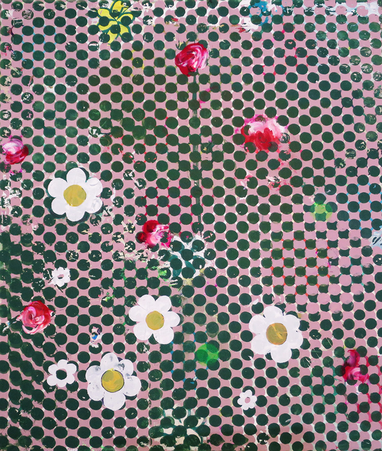 Daisies and Roses 30x26 2016